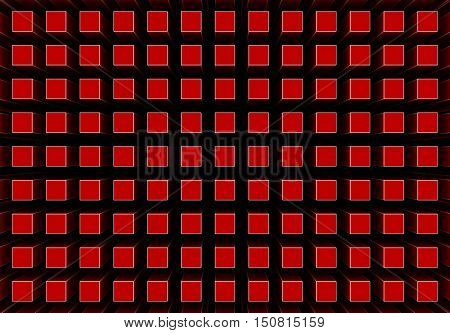 3d renderings of an abstract background in red color