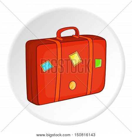 Suitcase icon. Cartoon illustration of suitcase vector icon for web