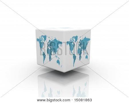 World Box On White Background