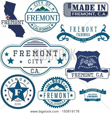 Fremont City, Ca. Stamps And Signs