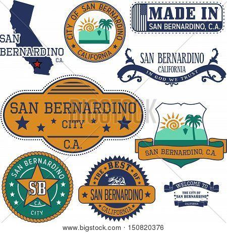 San Bernardino City, Ca. Stamps And Signs