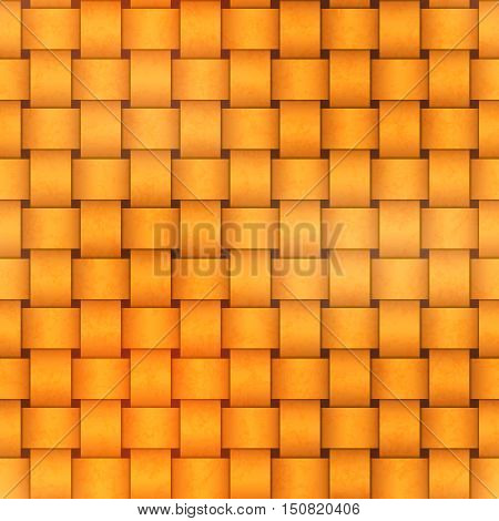 Bright yellow sennit seamless pattern on dark