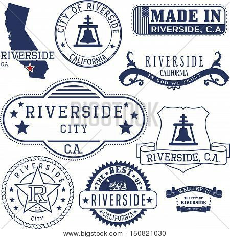 Riverside City, Ca. Stamps And Signs