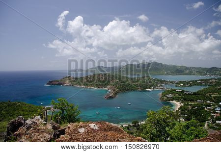 Views Of English Harbor And Freemans Bay From An Elevation Point