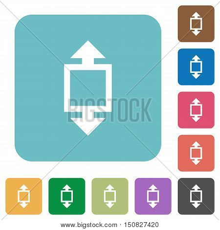 Flat height tool icons on rounded square color backgrounds.