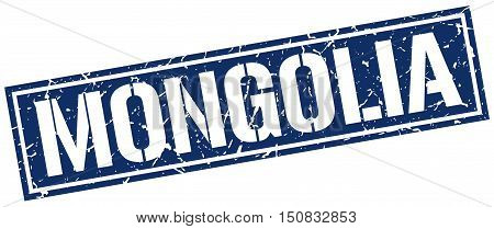 Mongolia. stamp. square grunge vintage isolated sign