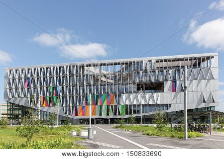 Kolding, Denmark - May 11, 2015: University of Southern Denmark is a university and campus in Kolding, Denmark built by Henning Larsen architects
