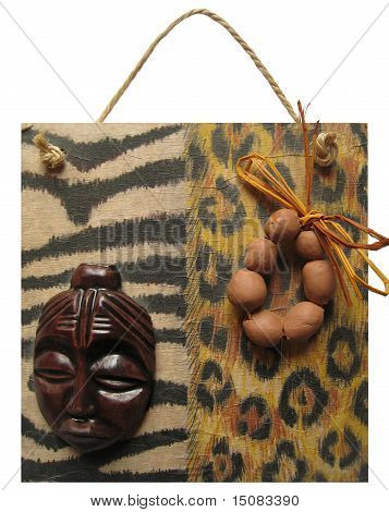 collage african style on wood
