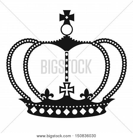 Black Crown On White Background