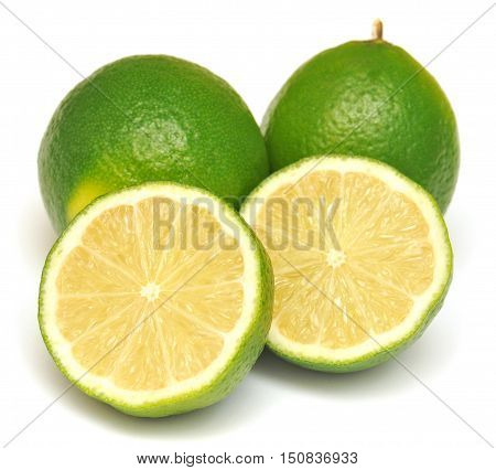 Lime isolated on white background. Lemon, green.