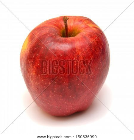 Red apple isolated on white background. Fruit.