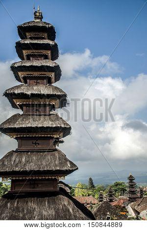 Pura besakih mother temple Bali Indonesia near Gunung Agung