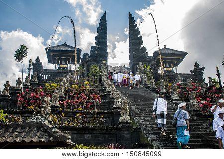 Pura besakih mother temple Bali Indonesia near Gunung Agung 3