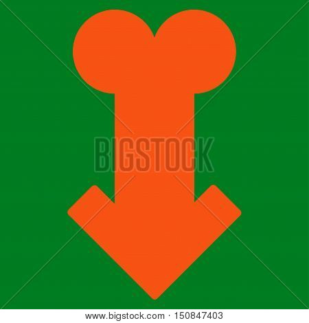 Male Sexual Disfunction vector icon. Style is flat symbol orange color rounded angles green background.