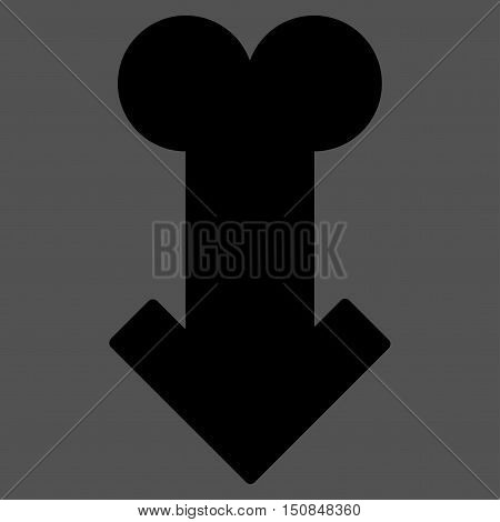 Male Sexual Disfunction vector icon. Style is flat symbol black color rounded angles gray background.
