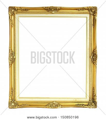 Victorian Style Photo Frame isolated on white background
