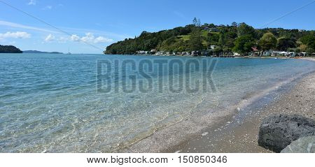 Panoramic Landscape Of Sandspit Beach New Zealand