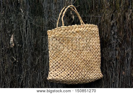 Woven Flax Bag Traditional Maori Culture