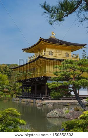Kinkaku-ji, Golden Temple, Kyoto, Japan and Japanese garden
