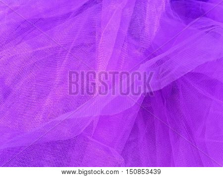 Purple Mesh Clothing Fabric