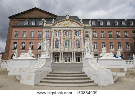 Electoral Palace Of Trier. The Electoral Palace Directly Next To The Basilika Is Considered One Of T