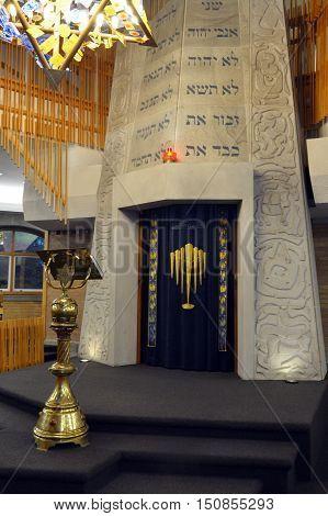 Torah Ark In Jewish Synagogue