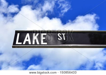Lake Street Sign In Cairns Queensland Australia