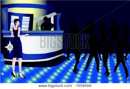 Woman In Bar.Eps