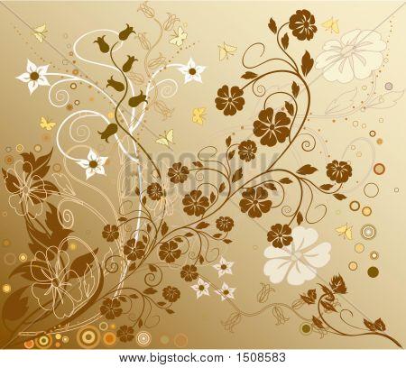 Fondo de naturaleza hermosa decoración Floral Vector