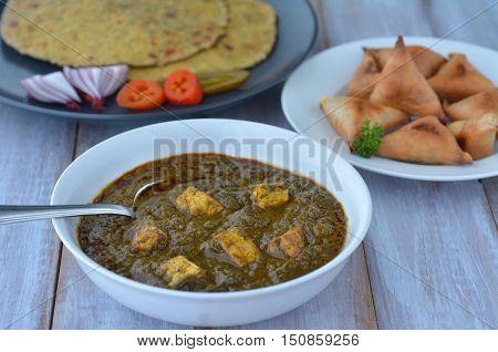Punjabi Palak Paneer Dish
