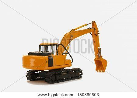 A Excavator backhoe model on white background