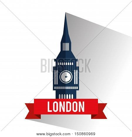 Big ben icon. London england landmark and tourism theme. Colorful design. Vector illustration