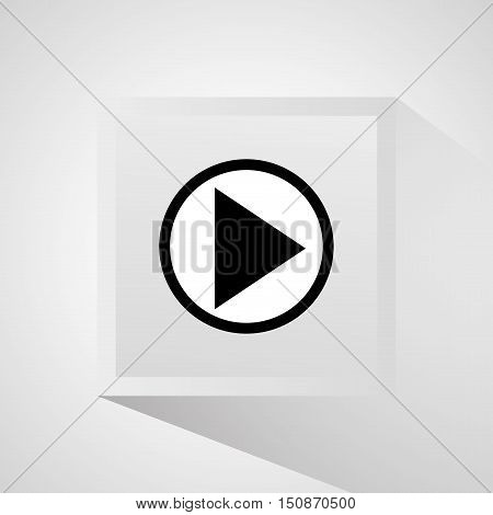 Play con. Cinema movie video and film theme. Isolated design. Vector illustration