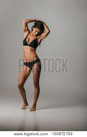 Fit Graceful Young Woman Modelling Lingerie