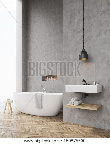 Side View Of Bathroom