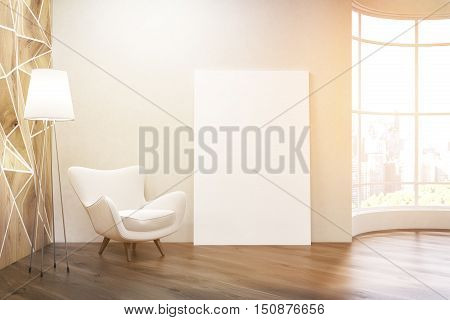 Sunlit Living Room With Round Window