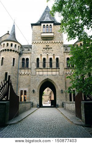 The main entrance to the castle of Marienburg (Germany)