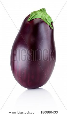 One brinjal isolated on a white background