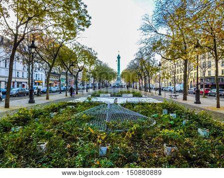 Hdr Place De La Bastille Paris