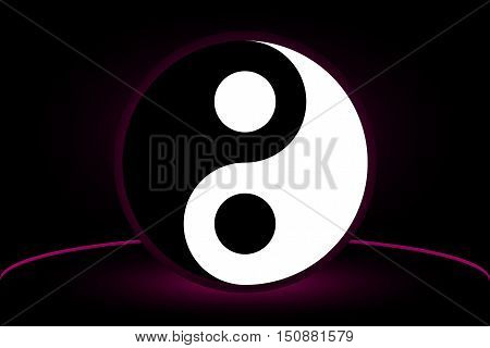 Yin yang symbol , yin and yang ,Yin Yang vector illustration