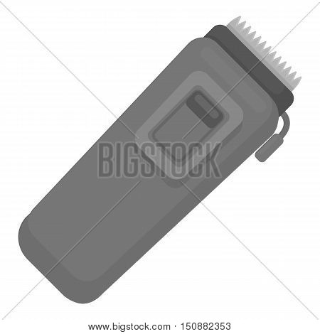 Electrical trimmer icon in monochrome style isolated on white background. Hairdressery symbol vector illustration.