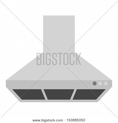 Exhaust hood icon in monochrome style isolated on white background. Kitchen symbol vector illustration.