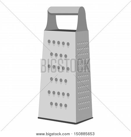 Grater icon in monochrome style isolated on white background. Kitchen symbol vector illustration.