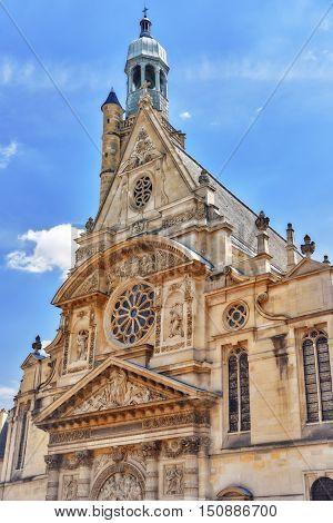 Saint-etienne-du-mont Is A Church In Paris, France, Located On The Montagne Sainte-genevieve  Near T