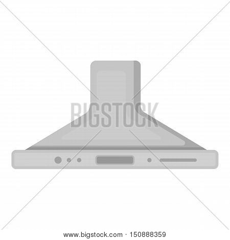 Exhaust hood icon in monochrome style isolated on white background. Household appliance symbol vector illustration.