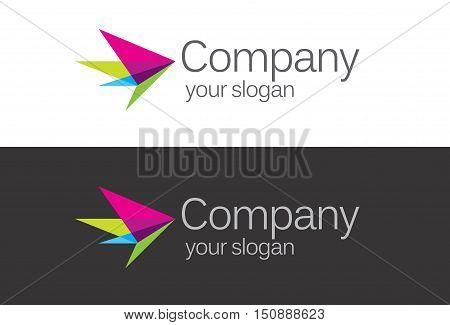 Vector logo design. Abstract flow logo template. symbol, technology icon, thin line logo. Company logo. Logo design. Vector logo element. Web logo