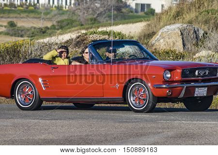 People In Their Vintage Cars At  The Pebble Beach Concours D'elegance