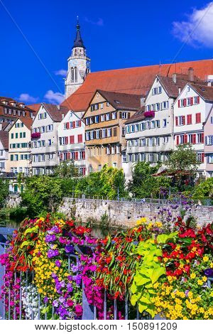 Floral beautiful town Tubingen - Germany (Baden-Wurttemberg)