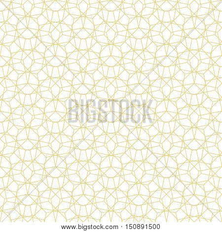 Seamless pattern. Abstract geometrical background. Original linear texture with repeating thin broken lines polygons difficult polygonal shapes rhombuses triangle. Random chaotic ornament