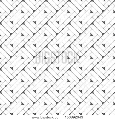 Vector seamless pattern. Abstract linear textured background. Modern geometric texture with thin lines triangles rhombuses. Regularly repeating geometrical thin line grid. Linear mosaic
